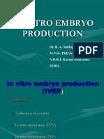 invitro embryo production