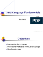 Java Language Fundamentals
