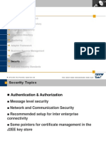 Security in SAP XI 3.0