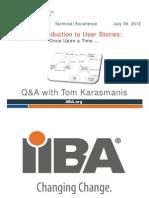 2013-07-30 BA Technical User Stories