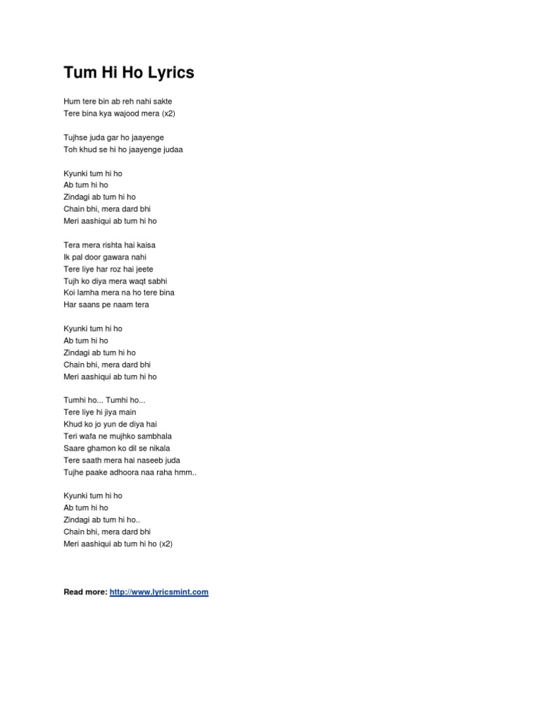 presentation on lyrics