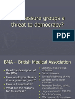 Are Pressure GrouAre pressure groups  (ELITSM) a threat to democracy?ps a Threat to Democracy
