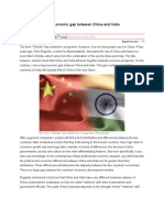 The Economic Gap Between China and India
