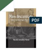 """""""Marx Desconocido. Sobre la 'Ideología Alemana'"""" por Nicolás González Varela"""
