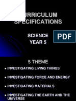 Curriculum Specifications y5