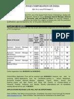 2013 Fci Recruitment Notification 2013 Medical Officer Asst GM