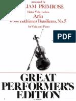 Bachiana 5 Viola e Piano - Arr Primrose