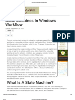 State Machines in Windows Workflow