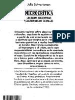 96651202 SCHVARTZMAN Julio Microcritica Lecturas Argentinas Cuestiones de Detalle