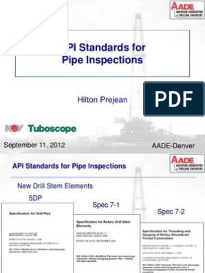 API Standards for Pipe Inspections pdf | Pipe (Fluid