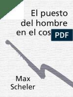 50078831 Scheler Max El Puesto Del Hombre en El Cosmos