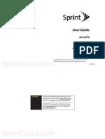 Sprint LG LX370 User Guide