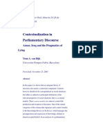 Contextualization in Parliamentary Discourse