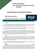 Proiect Practica - Desfasurat La Banca Comerciala Carpatica Sucursala - Oltenita