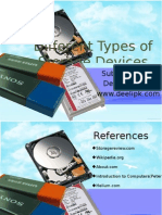 Presentation on Different types of Storage Devices