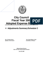 FY 2007 City Council Adopted Expense Budget Schedule C