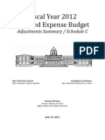 FY 2012 City Council Adopted Expense Budget Schedule C