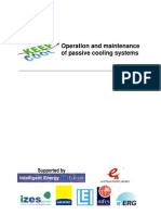 Operation and Maintenance of Passive Cooling Systems