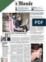 Le Monde Du Dimanche01 Et Lundi 02 Septembre 2013