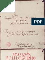 Anonyme Le Rosaire Des Philosophes 1