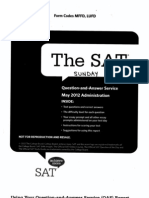 SAT 2012 May Sunday