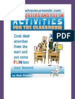 Lesson Starter Activities