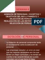 SEMANA 6. SELECCIÓN DE PERSONAL