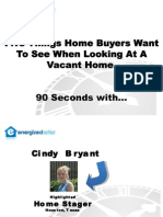 Cindy Bryant - Staging Vacant Home