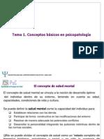 Conceptos básicos en psicopatología.