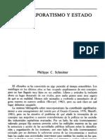 SCHMITTER, Philippe - Neocorpotativismo y Estado