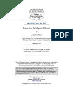 Minsky Lessons Sub Prime