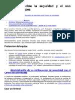 Información sobre la seguridad y el uso seguro de equipos