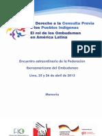 Derecho a La Consulta Previa Pueblos Indigenas AL
