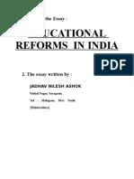 Edu Reforms in India