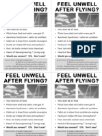 Aerotoxic Syndrome or Chemtrail syndrome, Passenger Flyer, 4 on A4 PDF