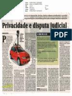 Privacidade e Disputa Judicial