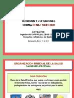 Términos y Definiciones  OHSAS - Marzo 2011
