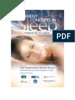 2013 Current Concepts in Sleep Aunali Khaku Faculty Brochure