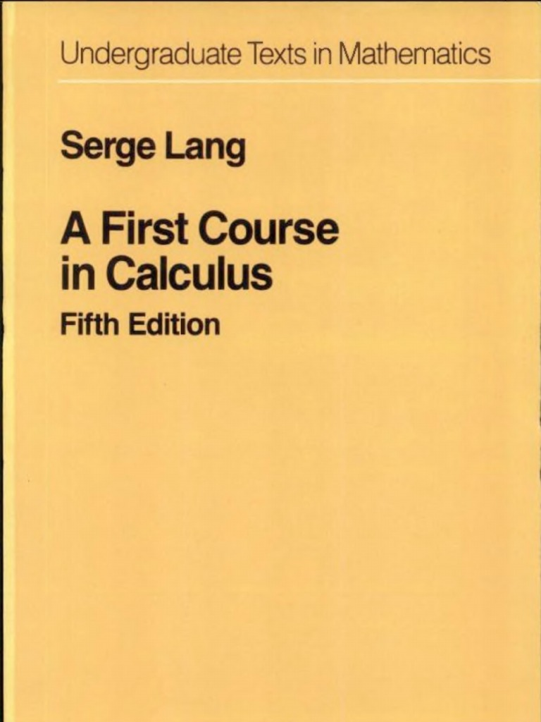 S lang a first course in calculus fandeluxe Gallery