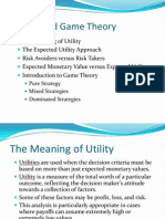 Utility and Game Theory