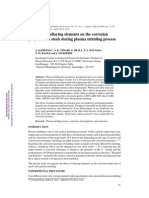 Influence of alloying elements on the corrosion properties of steels during plasma nitriding process