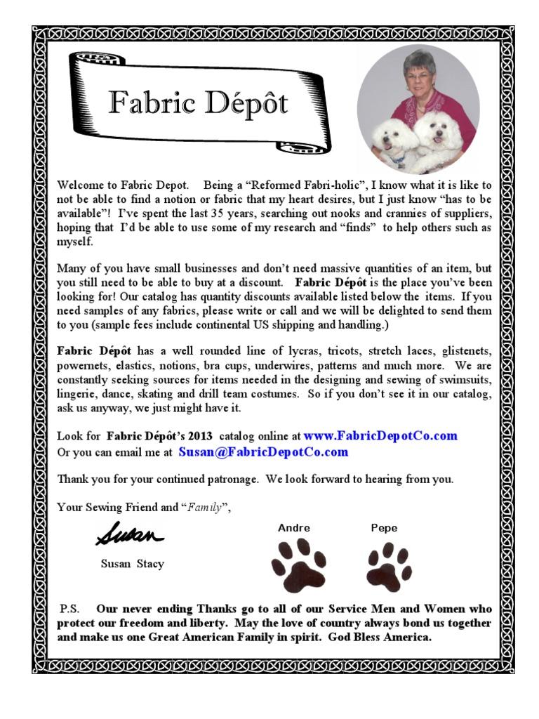 948487c46ba17 Fabric Depot Catalog 2013