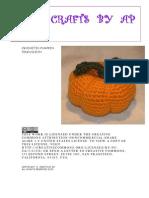 Crocheted Pumpkin Pincushion