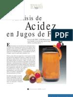 Analisis de Acidez en Jugos de Frutas