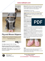 Pig and Mouse Slippers
