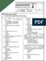 Examen Bimestral II 6 GRADO