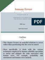 Human Error Chap 8 (James Reason)
