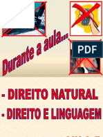 Aula 7 - Direito Natural - Direito e Linguagem (2010-2)