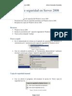 Copias de Seguridad en Server 2008