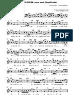 Fernanda Brum Fernanda Brum Amar Voce Partitura Simplificada e Com Letra 1330920033